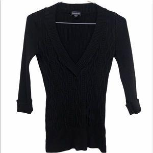 *2/$30*Bebe 3/4 Sleeve Knit Top